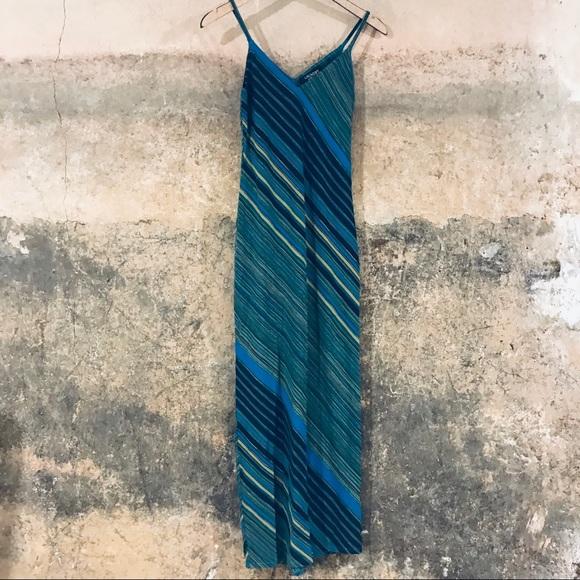 Laundry by Shelli Segal green & blue maxi dress